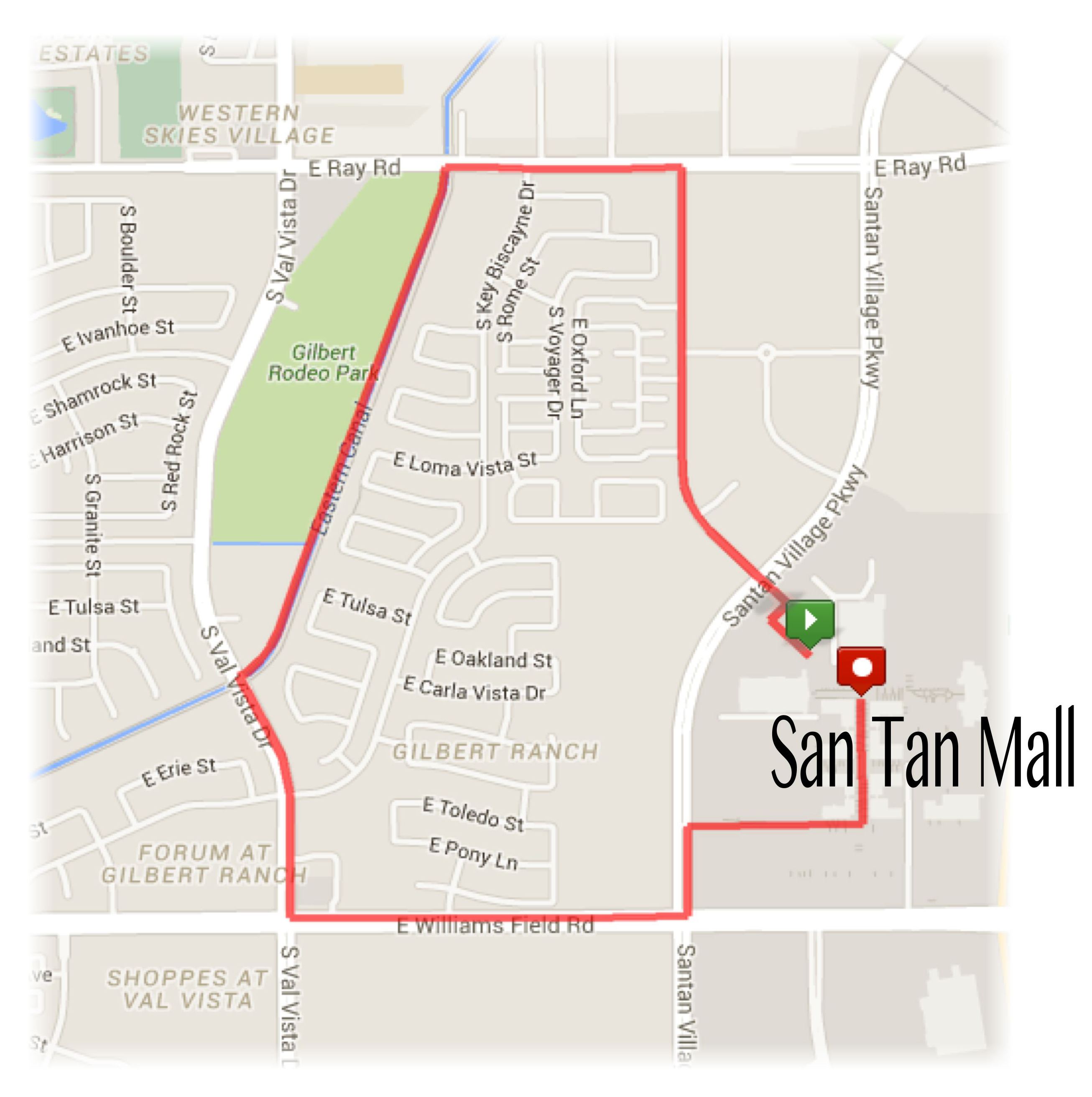 Gilbert Turkey Trot Map